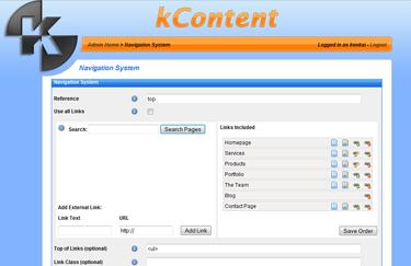 kContent - Navigation System