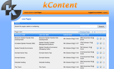 kCommerce List Pages