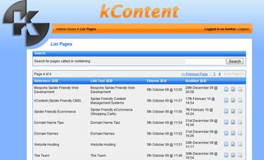 kCommerce List Pages