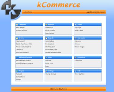 kCommerce Admin
