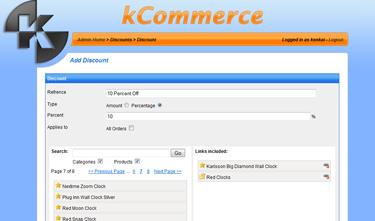 kCommerce eCommerce - Add Discount