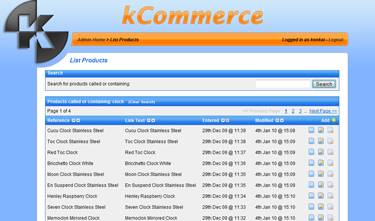 kCommerce List Products
