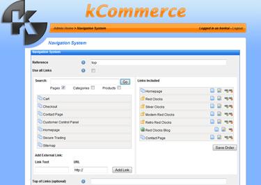 kCommerce eCommerce - Navigation System