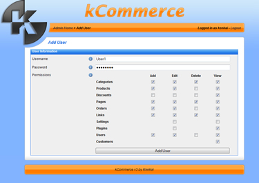 kCommerce eCommerce - Users