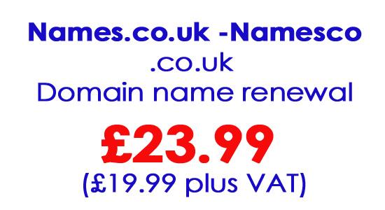 Namesco Domain Name Renewal